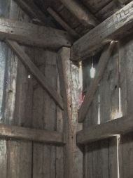Joinery in Guyette barn